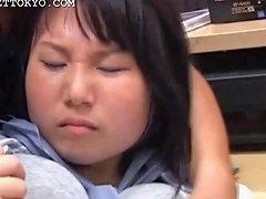 Asian Sweet Teen Getting Pussy Wet In Her Panties At Work