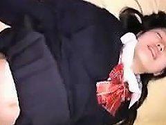Gorgeous Oriental Schoolgirl Gets Her Wet Pussy Stuffed Wit