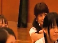 Asian Teen In A White Shirt And Sexy Black Shorts Gets Her