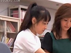 Brunette Asian Girl Seducing Her Coed In The