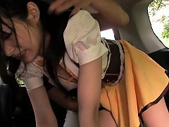 Tiny Japanese Babe With Hairy Pussy Fingered