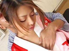 Alice Hoshi Asian Babe Gets Facial Part4