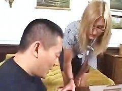 The Asian Guy Enjoy With The European Milf