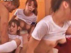 Asian Teenies Pussy Fucked Hardcore In Hot Gangbang