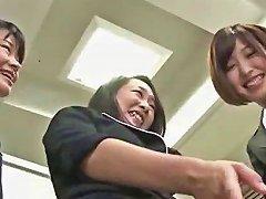Japanese Women Rub Their Feet On A Man