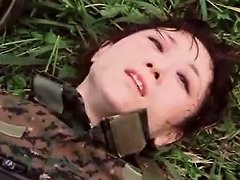 Japanese Hotties In The Military Get Hungry For Sex In A
