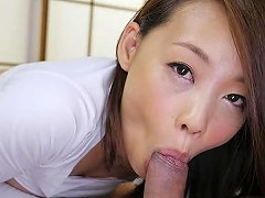 Asian Babe On His Cock Loves To Lick Him Up