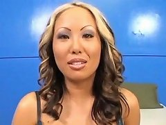 This Asian Whore Craves To Get That Whopping Pecker Of Her Handsome Lover Between Her Legs