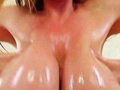Asian MILF Tit Fucks Cock