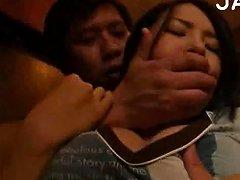 Busty Japanese Finger Fucked Scene 1