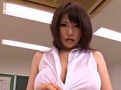 Busty Teacher Anri Okita Gets Fucked At School