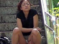 Kinky Asian Teen Peeing Asian