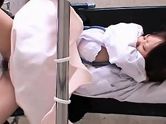 Cute Japanese Babe Gets A Doctor Exam With Some Toys In Her