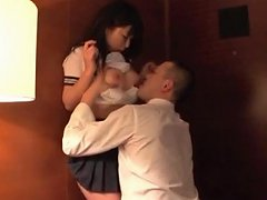 Arousing Teen Jap Girl Teased With Soft Kisses