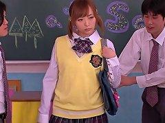 Asian Teen Schoolgirl Giving Handjob In Class Free Porn 9b