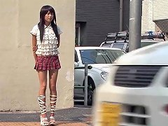 Japanese Schoolgirl Picked Up And Pounded Roughly