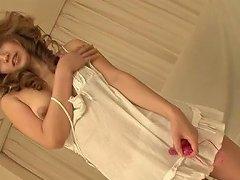 Busty Oriental Chick Misaki Aiba Fucks Her Pussy With Her Rabbit Vibrator